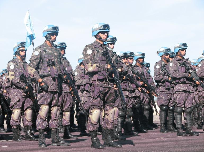 Soldados do Exército Brasileiro no Haiti