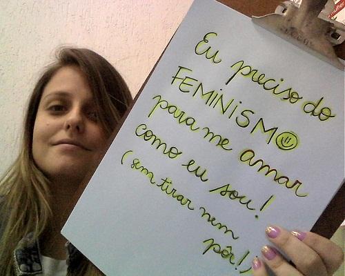 """Isabela - RJ. Foto da Campanha: """"Quem Precisa do Feminismo?"""" no tumblr: http://quemprecisadofeminismo.tumblr.com/"""