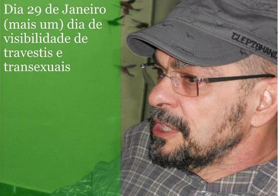 """""""Sou transhomem, com todo direito a sê-lo.'' João W. Nery em imagem do Grupo Identidade Campinas, no facebook."""