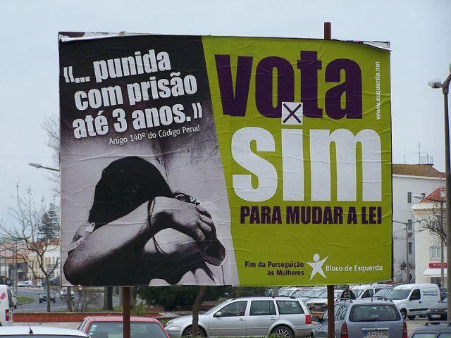"Publicidade do grupo ""Bloco de Esquerda"". Fonte: Wikimmedia Commons."
