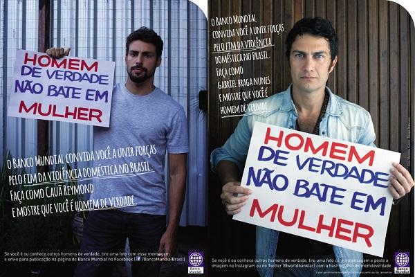 Os atores Cauã Reymond e Gabriel Braga Nunes participam da campanha do Banco Mundial. Foto: Página do facebook do Banco Mundial.