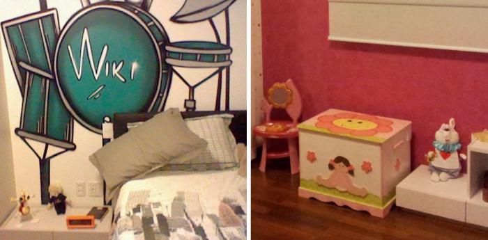 Espaços preferidos dos irmãos Lucas (13) e Raquel (7): os quartos! Foto de Humberto Massa.