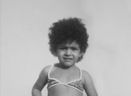 Liliane Gusmão com aproximadamente três anos. Arquivo pessoal.