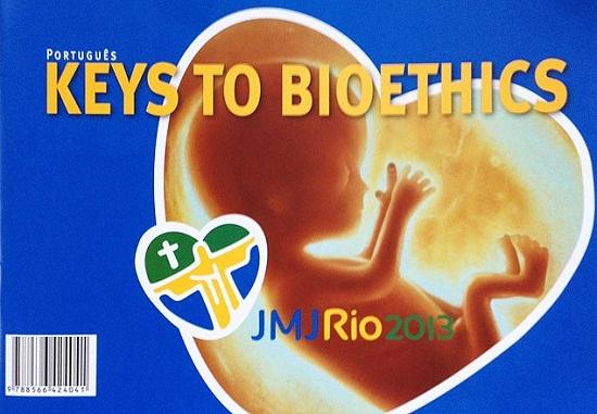 Capa do Manual de Bioética distribuído aos participantes da JMJ. Divulgação.