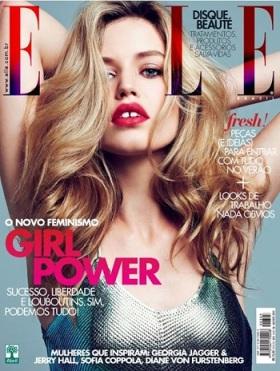 Capa da revista Elle, edição de agosto.