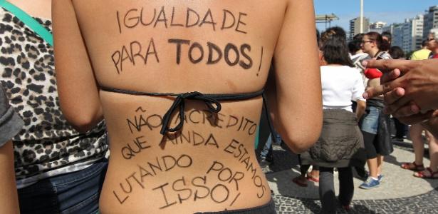 Marcha das Vadias do Rio de Janeiro 2013. Foto de Julio Cesar Guimarães/UOL.