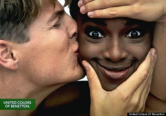 Campanha publicitária da marca Benetton.