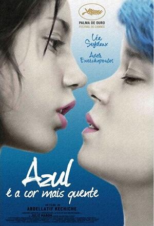 "Cartaz brasileiro do filme ""Azul é a cor mais quente"" (2013)."