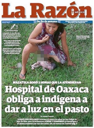 "Capa do jornal mexicano ""La Razón""."