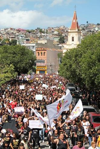 Passeata dos professores no Rio. Foto: SEPE RJ.