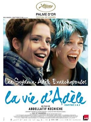 """Cartaz francês do filme """"La Vie d'Adele"""" (2013)."""