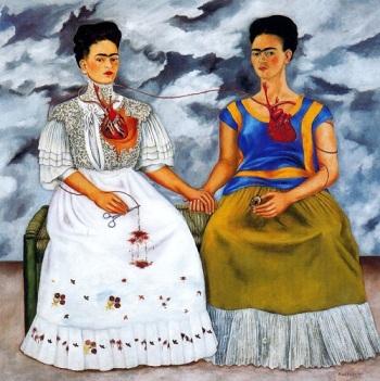 As Duas Fridas (1939). Quadro de Frida Khalo.
