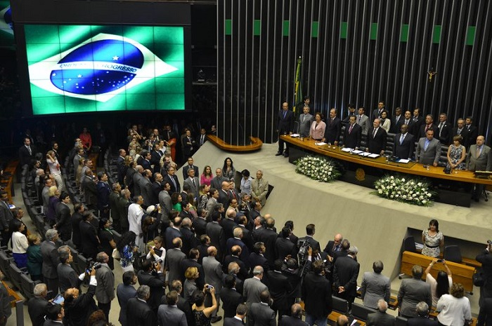 Sessão solene de abertura do Ano Legislativo de 2014. Foto de Valter Campanato/Agência Brasil.