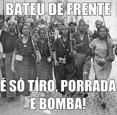 Imagem compartilhada pela página do Facebook: 'Guerreiras Cabeludas' em 19/01/2014.