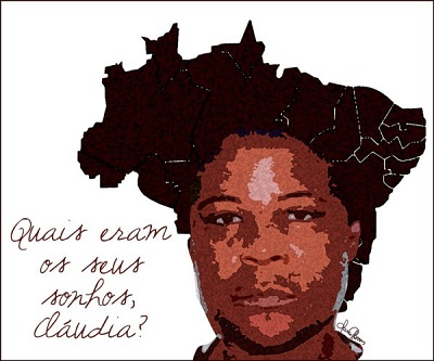 Ilustração de Clara Gomes, parte do projeto 100 Vezes Claudia do site Think Olga.