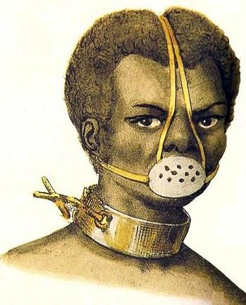Castigo de Escravos por Jacques Etienne Arago, 1839. Fonte: Wikimedia Commons.