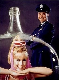 Série de tv americana 'Jeannie é um gênio' (1965).