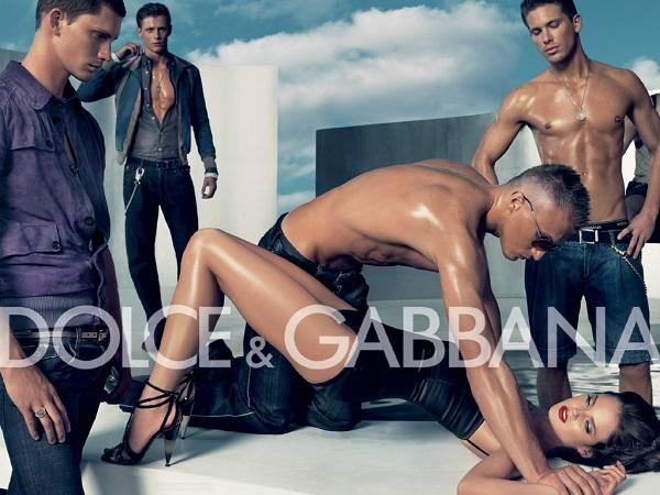 Campanha publicitária da marca Dolce & Gabanna em 2007.