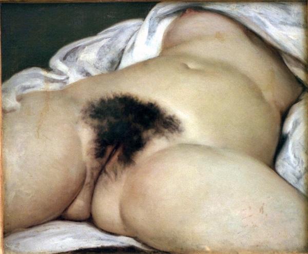 L'Origine du monde (A Origem do Mundo), óleo sobre tela de Gustave Courbet, 1866.
