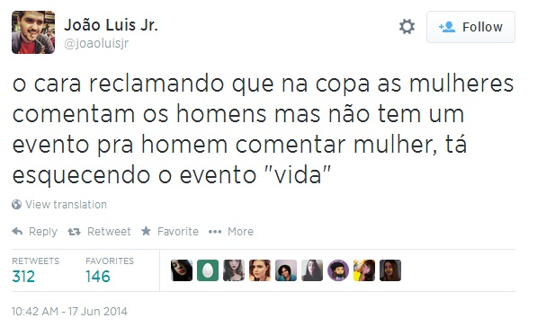 Tweet de @joaoluisjr.