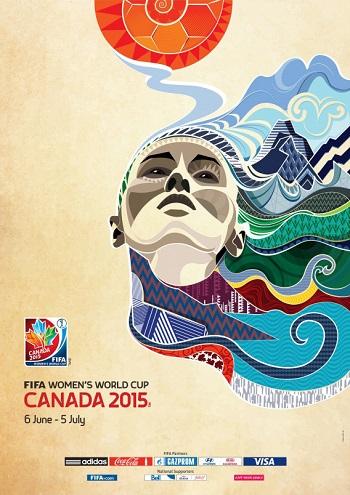 Poster oficial da Copa do Mundo de Futebol Feminino 2015, organizada pela FIFA.
