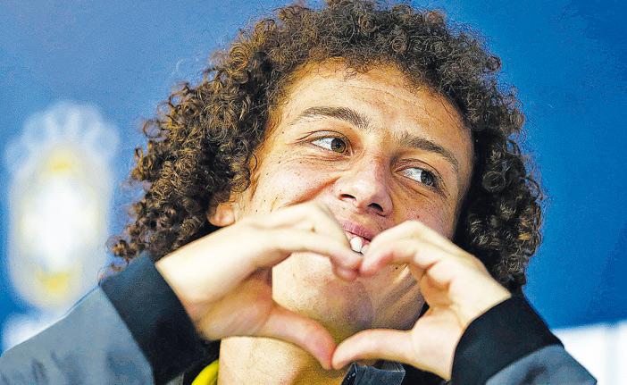 Jogador David Luiz. Foto: CEDOC/RAC - Planeta Esporte.