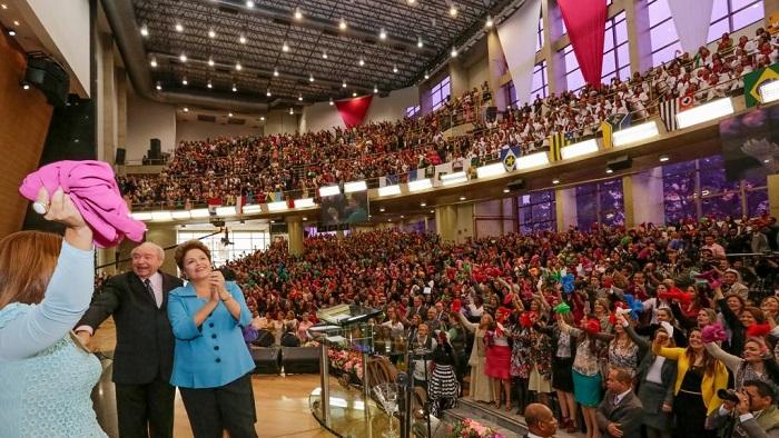 São Paulo - Dilma Rousseff participa do congresso Nacional de Mulheres - CIBEN 2014 - das Assembléias de Deus Ministério de Madureira. Foto de Ichiro Guerra/Dilma 13.