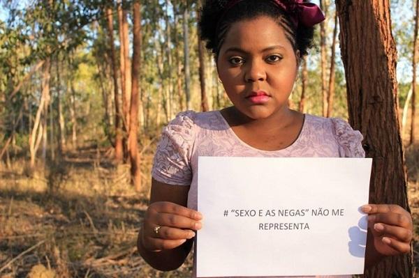 """Foto: Vanessa Aragão na página do Facebook Boicote nacional ao programa """"Sexo e as Negas""""."""