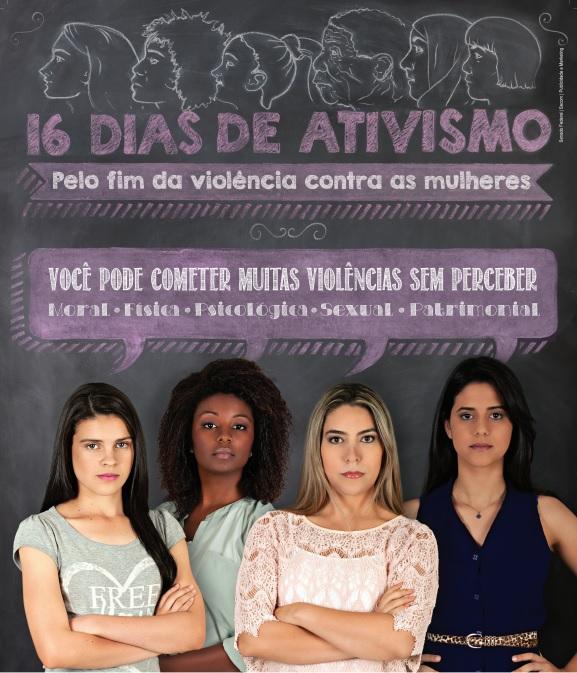 Um dos cartazes de divulgação da Campanha 16 Dias de Ativismo 2014.