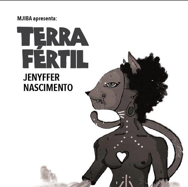 """Livro de poesias: """"Terra Fértil"""" de Jenyffer Nascimento. Organizado pelo coletivo Mjiba."""