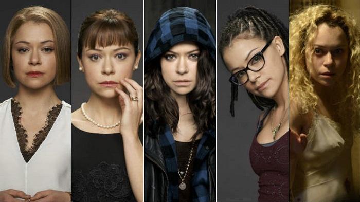 Personagens da série canadense de ficção científica Orphan Black da BBC America.