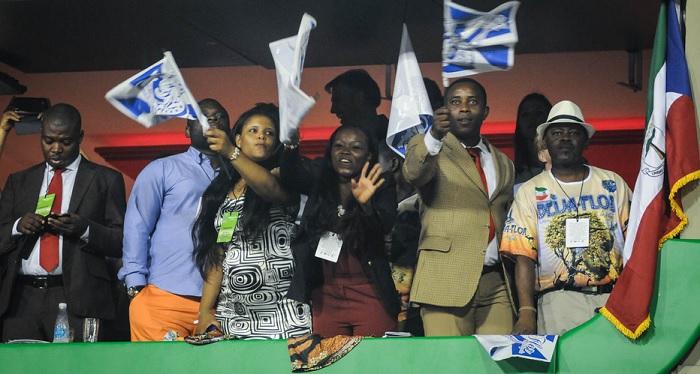Camarote de representantes da Guiné Equatorial na Sapucaí. Foto de Alexandre Durão / G1.