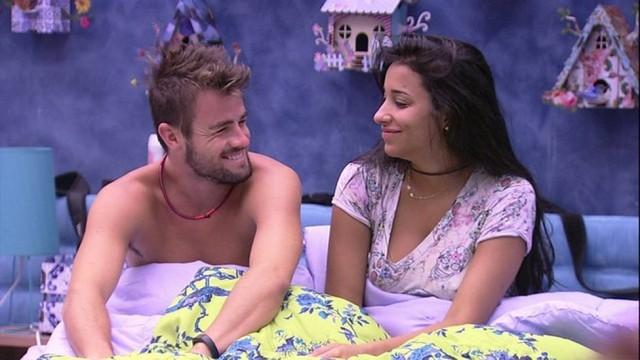 Rafael e Talita no BBB15. Imagem: Rede Globo.