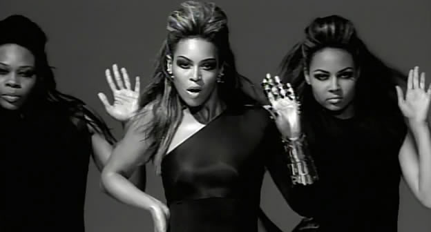 "Cena do videoclipe ""Single Ladies (Put a Ring On It)"" de Beyoncé."