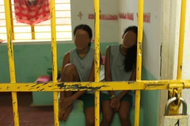 Adolescentes infratoras apreendidas em unidade feminina de internação de Porto Velho/RO. Foto de Vanessa Vasconcelos/G1.