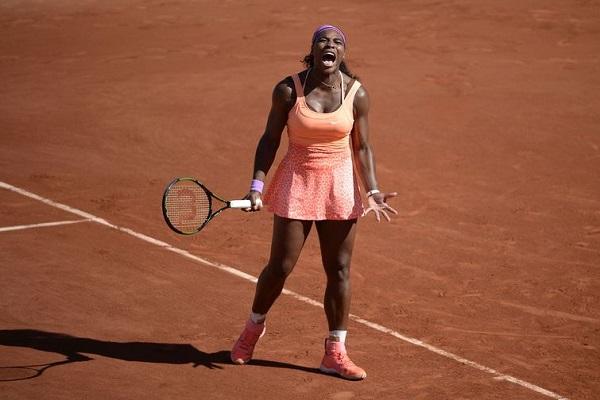 Serena Williams na final do Aberto da França (Roland Garros) 2015. Foto de Rindoff/Charriau/ Getty Images.