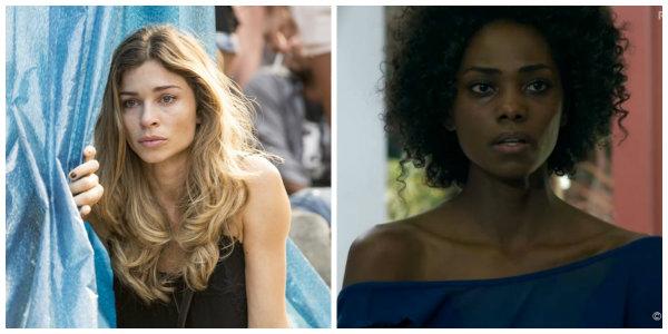 A direita, Larissa (Grazi Massafera). A esquerda, Lyris (Jessica Cores). Personagens da novela Verdades Secretas (2015) da Rede Globo.