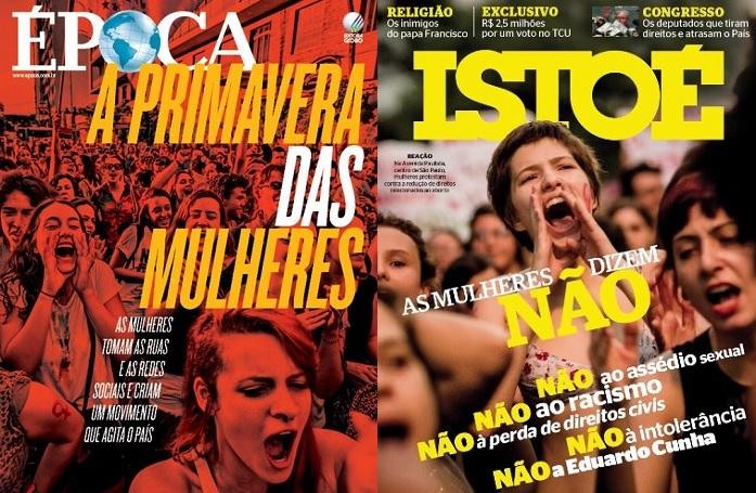 Capas das revistas Época (edição 909) e Isto É (edição 2397).