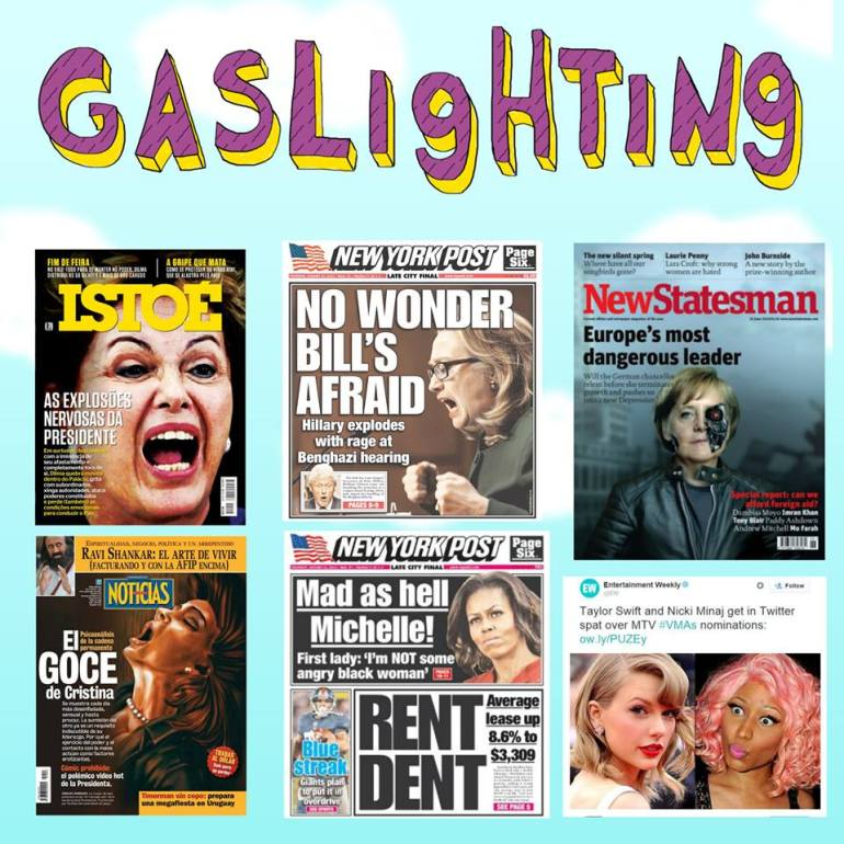 Post da página Think Olga sobre Gaslighting no Facebook.