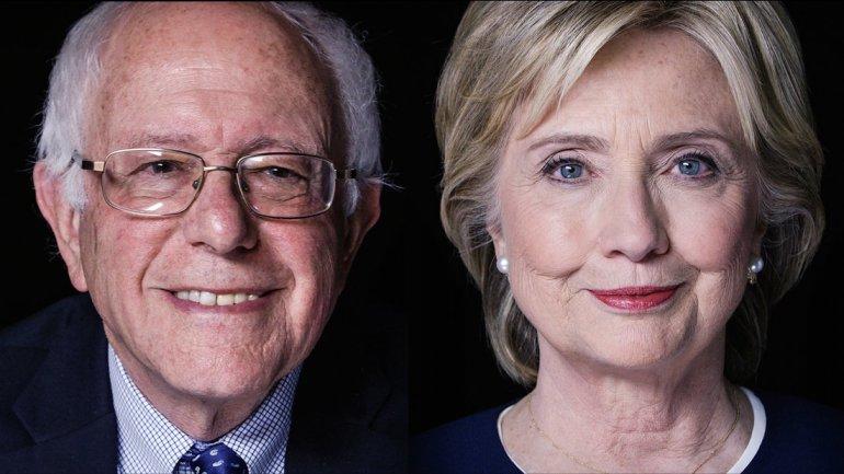 Bernie Sanders e Hillary Clinton. Foto do site Fox6 Now.