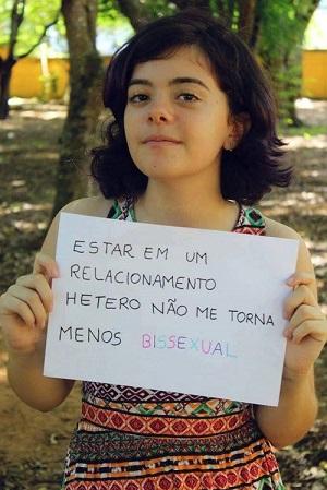 Imagem da página Bissexuais Existem no Facebook.