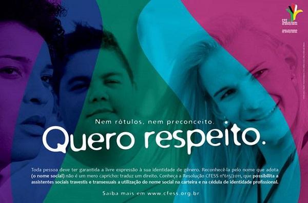 CFESS lança cartaz especial para o Dia Nacional da Visibilidade Trans.