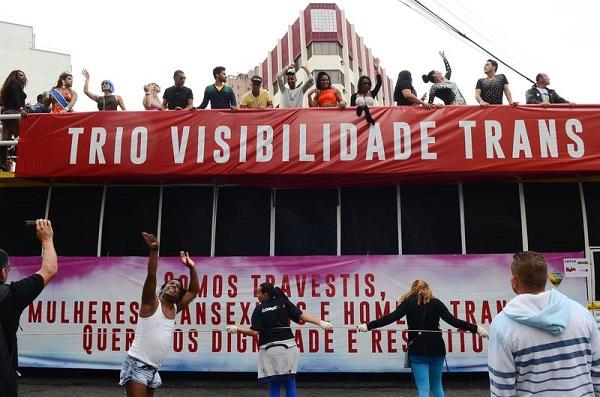 SP - 20ª edição Parada do Orgulho LGBT, com o tema: Lei de Identidade de Gênero Já! Todas as pessoas contra a transfobia. Foto de Rovena Rosa/Agência Brasil.