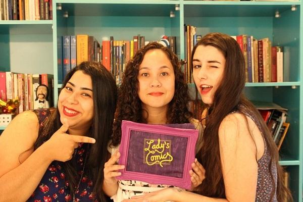 As Lady's Comics. Da esquerda para direita: Mariamma Fonseca, Samara Horta e Samanta Coan. Foto de André Coelho.