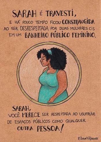 Ilustração da série Mulheres de Carol Rossetti.